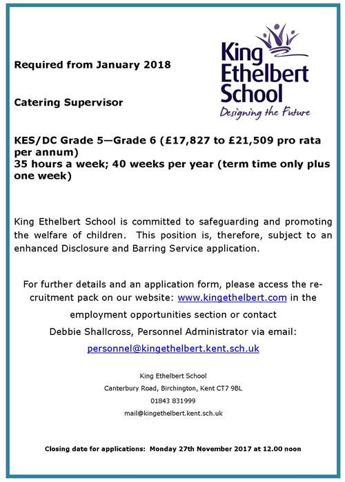 Catering Supervisor Advert500